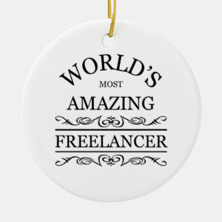 World's most amazing freelancer christmas ornament