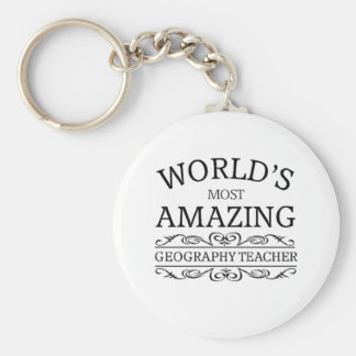 World's most amazing geography teacher keychain