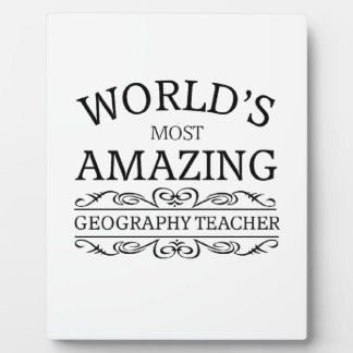 World's most amazing geography teacher photo plaques