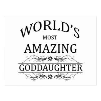 World's Most Amazing Goddaughter Postcard