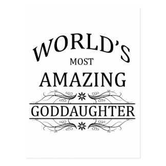 World's Most Amazing Goddaughter Postcard