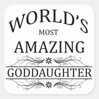World's Most Amazing Goddaughter Square Sticker