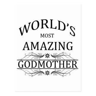 World's Most Amazing Godmother Postcard