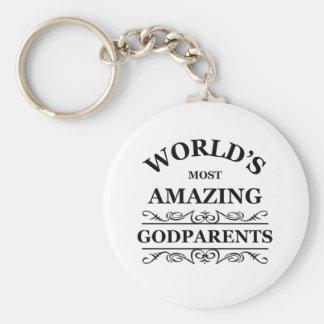 World's most amazing Godparents Basic Round Button Keychain