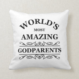 World's most amazing Godparents Throw Pillow