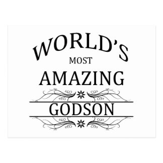 World's Most Amazing Godson Postcard