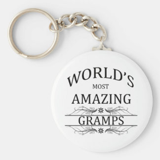 World's Most Amazing Gramps Keychain