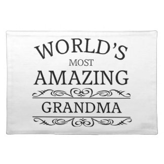 World's most amazing grandma cloth placemat