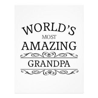 World's most amazing Grandpa Letterhead