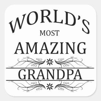 World's Most Amazing Grandpa Square Sticker