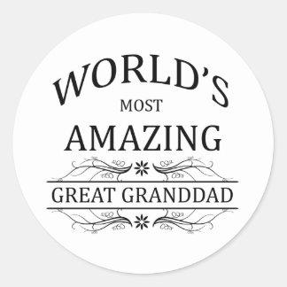 World's Most Amazing Great Granddad Classic Round Sticker