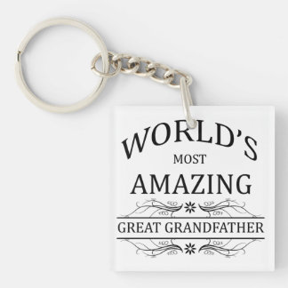 World's Most Amazing Great Grandfather Keychain