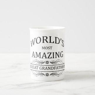World's Most Amazing Great Grandfather Bone China Mugs