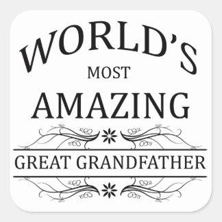 World's Most Amazing Great Grandfather Square Sticker