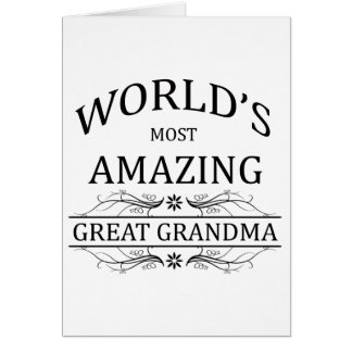 World's Most Amazing Great Grandma Card