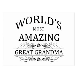 World's Most Amazing Great Grandma Postcard