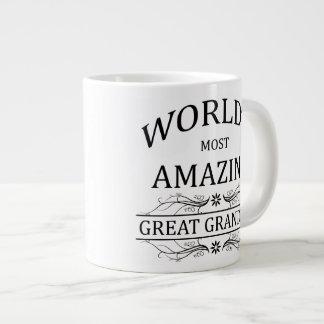 World's Most Amazing Great Grandma 20 Oz Large Ceramic Coffee Mug