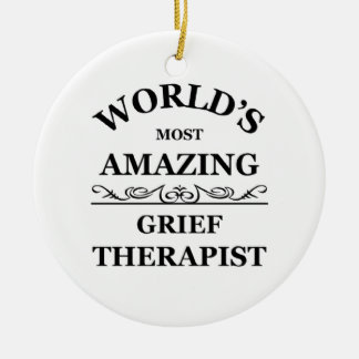 World's most amazing Grief Therapist Christmas Tree Ornament