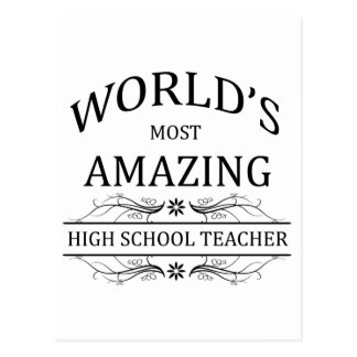 World's Most Amazing High School Teacher Postcard