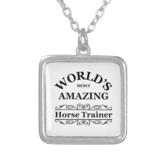 World's most amazing Horse Trainer Silver Plated Necklace