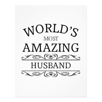 World's most amazing husband letterhead