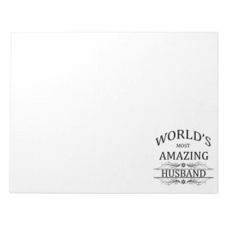 World's Most Amazing Husband Notepad