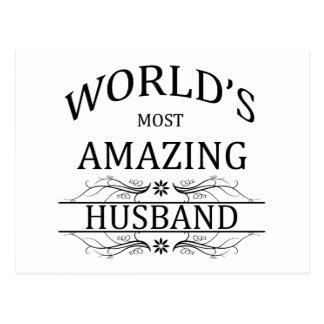 World's Most Amazing Husband Postcard