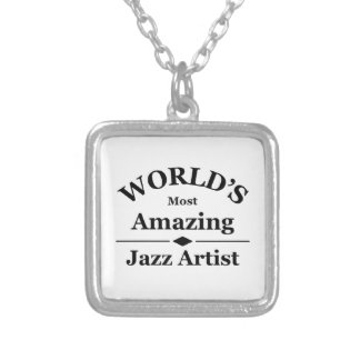 World's most amazing Jazz Artist Silver Plated Necklace