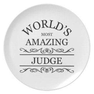 World's most amazing Judge Dinner Plates