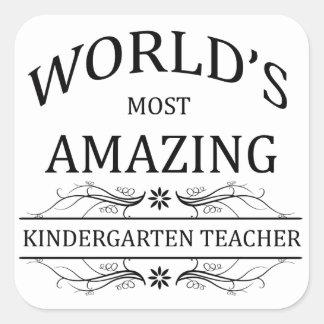 World's Most Amazing Kindergarten Teacher Sticker