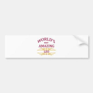 World's Most Amazing Leo Bumper Sticker