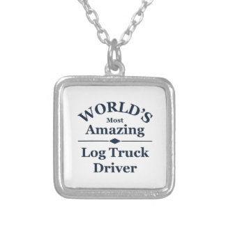 World's most Amazing log truck driver Silver Plated Necklace