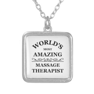 World's most amazing Massage Therapist Silver Plated Necklace