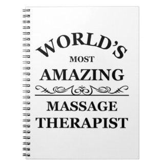 World's most amazing Massage Therapist Spiral Notebook
