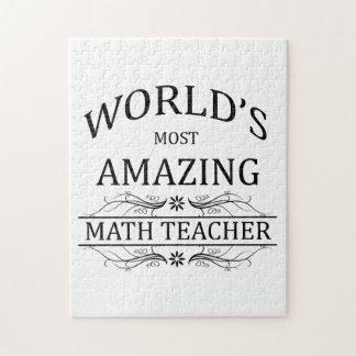 World's Most Amazing Math Teacher Jigsaw Puzzle