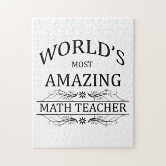 World's Most Amazing Math Teacher Jigsaw Puzzles