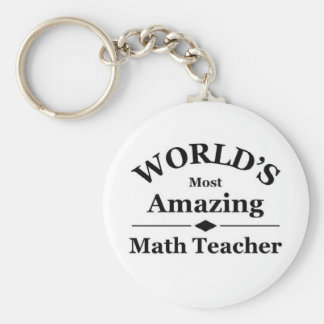 World's most amazing Math Teacher Keychain