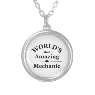 World's most amazing Mechanic Silver Plated Necklace
