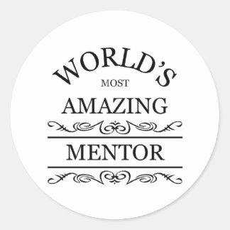 World's most amazing mentor classic round sticker