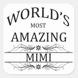 World's Most Amazing Mimi Square Sticker