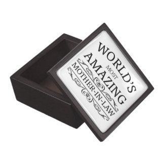 World's most amazing mother in law premium keepsake box