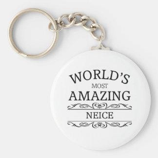 World's most amazing  Neice Keychain