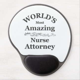 World's most amazing Nurse Attorney Gel Mouse Pad