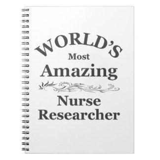 World's most amazing Nurse Researcher Spiral Notebook