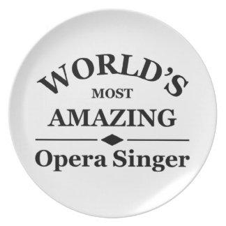 World's most amazing Opera Singer Dinner Plate