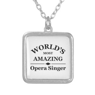 World's most amazing Opera Singer Silver Plated Necklace