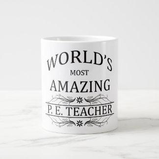 World's Most Amazing P.E. Teacher Large Coffee Mug
