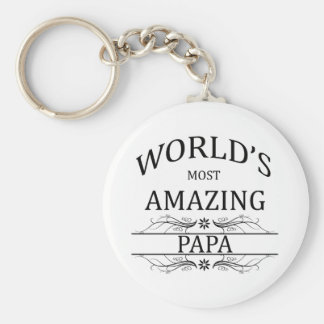 World's Most Amazing Papa Keychain