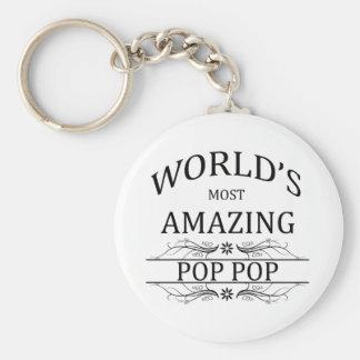World's Most Amazing Pop Pop Basic Round Button Keychain