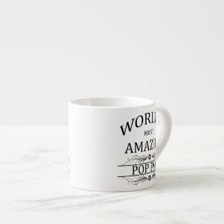 World's Most Amazing Pop Pop 6 Oz Ceramic Espresso Cup